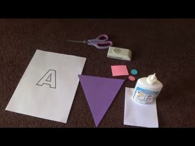 DIY Name Banner For Birthday Party!!
