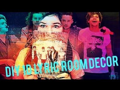 DIY One Direction Lyric room decor