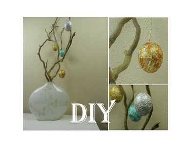 DIY:  Osterdeko aus Buchseiten.  Easter decor out of book pages