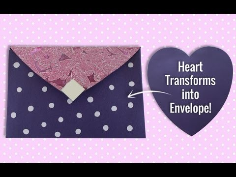 DIY Paper Craft : Learn How a Heart Shaped Paper Changed into Beautiful Envelope in Just 5 Mins!