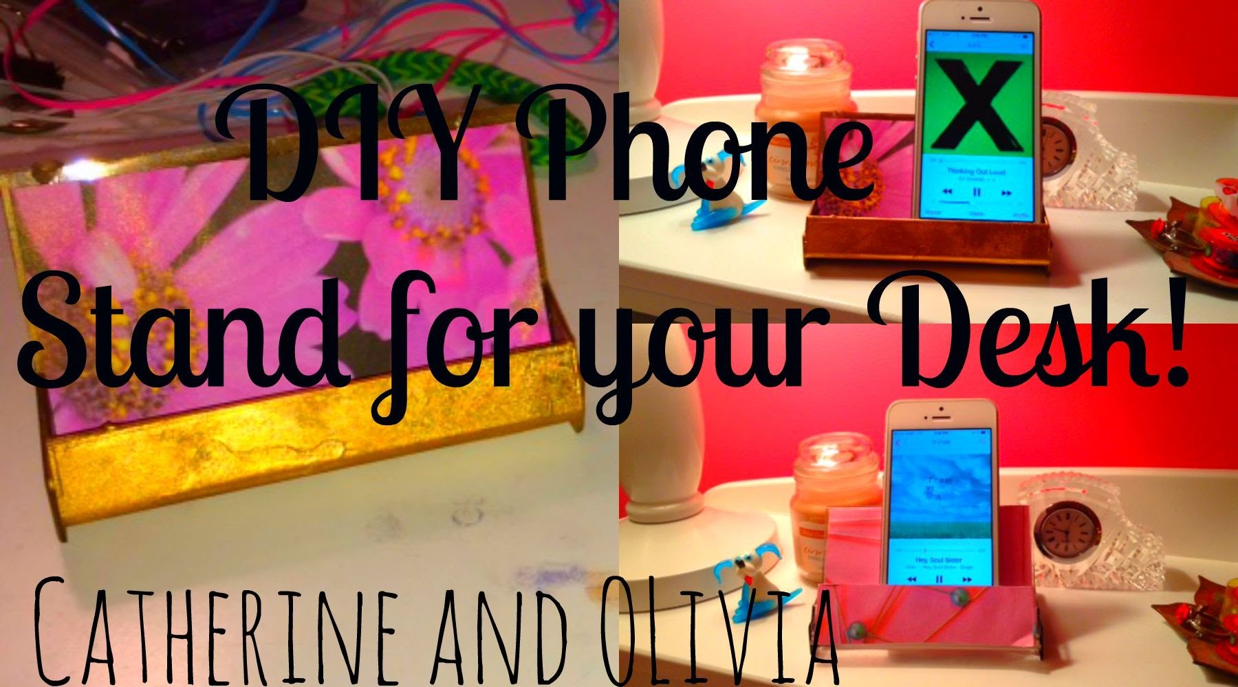 ♡DIY Phone Holder.Stand for Your Desk♡ Cat and Liv☼