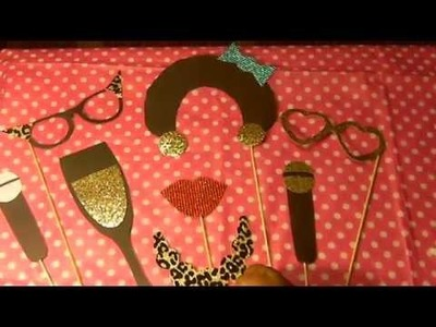 DIY Photo booth party props