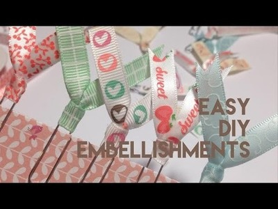 DIY RIBBON PAPER CLIP EMBELLISHMENT | PLANNER, POCKET LETTER, JOURNAL TUTORIAL