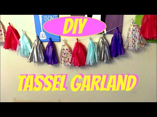 DIY TASSEL GARLAND | BABY SHOWER DECORATION