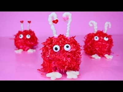 DIY Valentine's Day Fuzzy Cake Balls SO CUTE! How to Make V DAY Treats