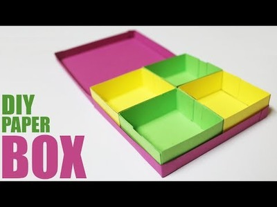 How to make a paper storage box - DIY storage box with lid