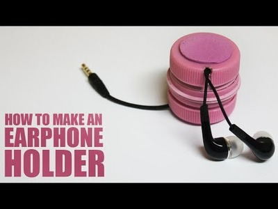 How to make an earphone holder - DIY earphones holder
