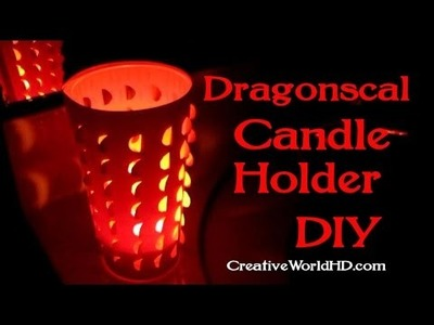 How to Make Dragonscale Candle Holder.DIY Paper Craft Tutorial by Creative World