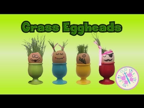 MAKE YOUR OWN GRASS EGGHEADS! DIY Craft for kids | FUN | by The Mini Makers