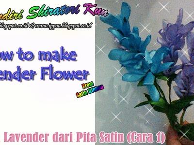 Cara Mudah Membuat Bunga Lavender (How to Make Lavender from Satin Ribbon )