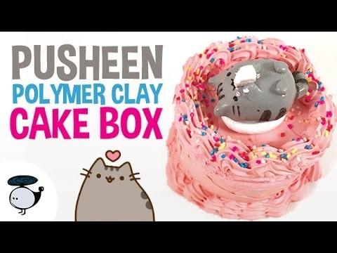DIY PUSHEEN CAKE BOX [POLYMER CLAY TUTORIAL]