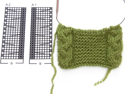 DROPS Knitting Tutorial: How to work after chart A.1 and A.2 in Drops Extra 0-1185