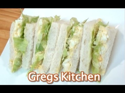 EGG AND LETTUCE SANDWICH -  EGG SALAD How To - Greg's Kitchen
