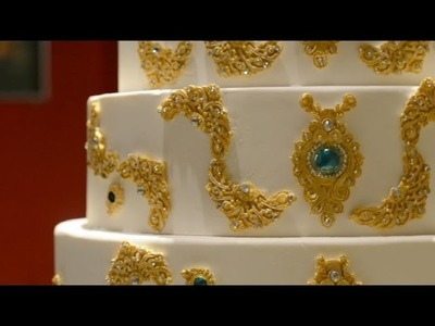 How to Cake It:  6 Tiers Indian. Arabic Jewelry wedding cake