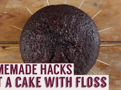 How to Cut a Cake With Dental Floss | Homemade Hacks