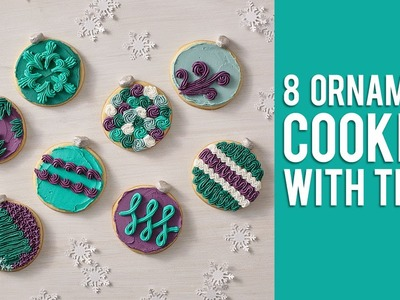 How to Decorate 8 Ornament Cookies with Tip 16