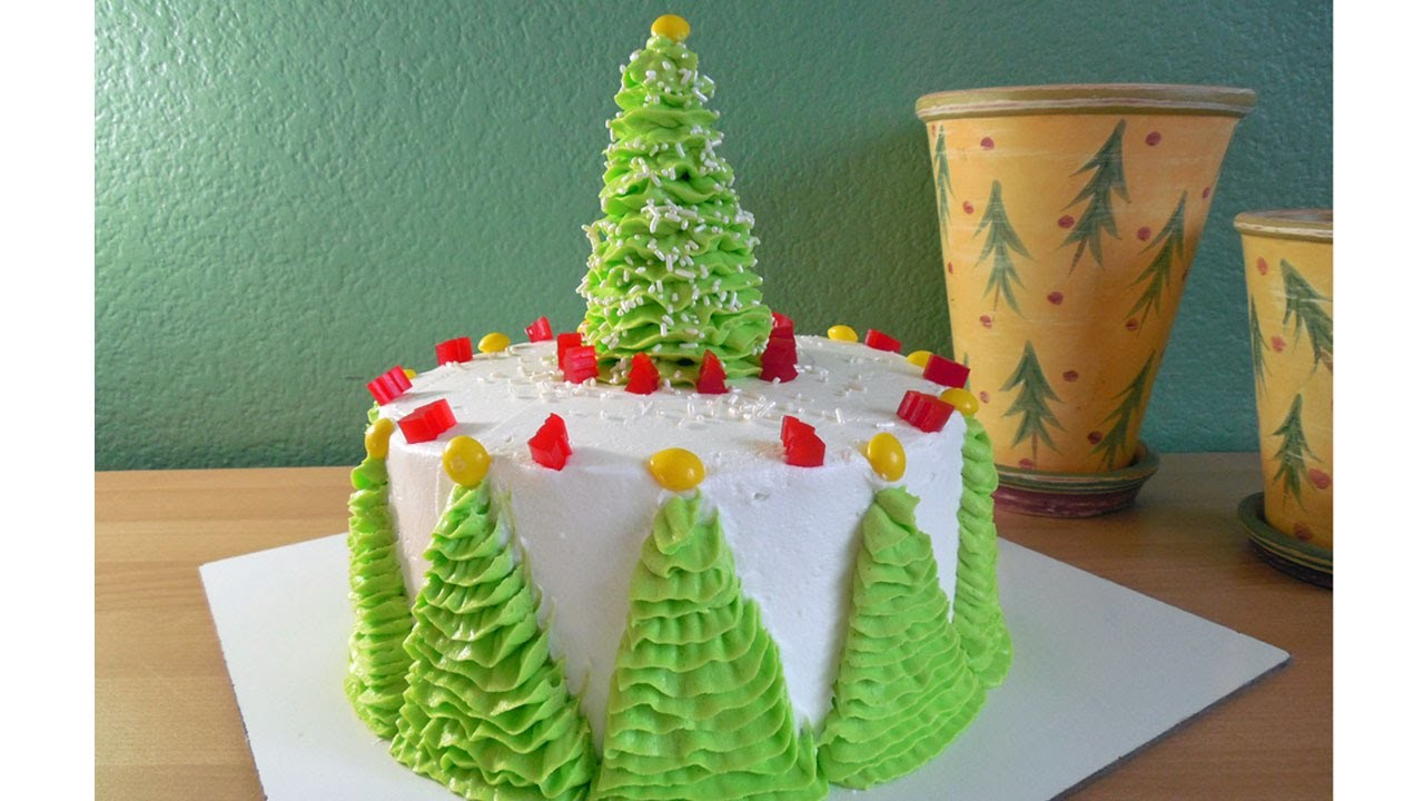 How to Decorate a Christmas Tree Cake with Jill