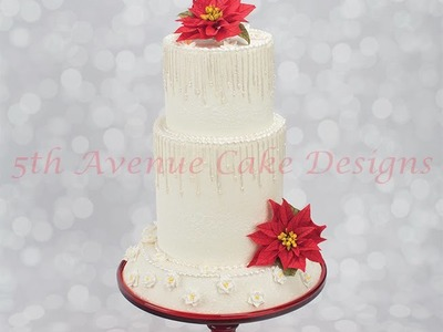 How To Decorate A Winter Wonderland Wedding Cake With Piped Icicles