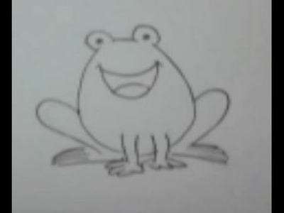 How to Draw a Frog for Kids - Drawing Step by Step + Tutorial .