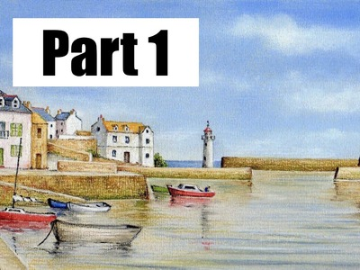 How To Draw a Landscape - Part 1 - Pastel Pencils