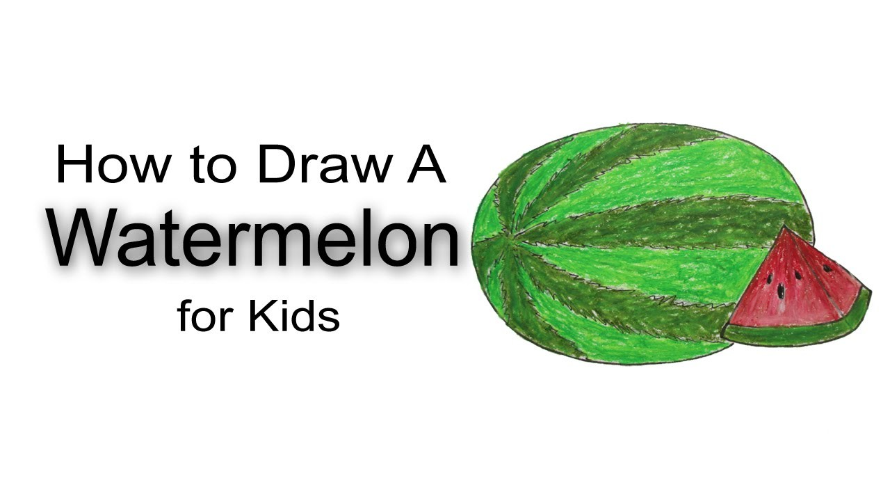 How to Draw A Watermelon for Kids