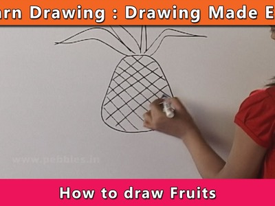 How to draw Fruits | Learn Drawing For Kids | Learn Drawing Step By Step For Children