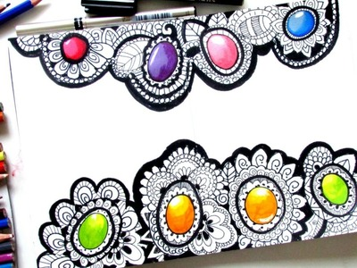 How to Draw Gems in Zentangle