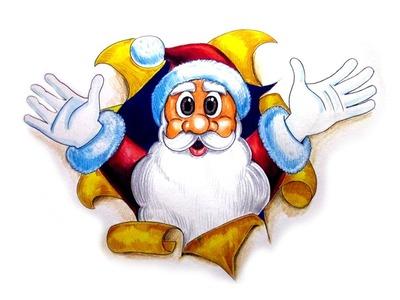 How to Draw Santa Clause Cartoon