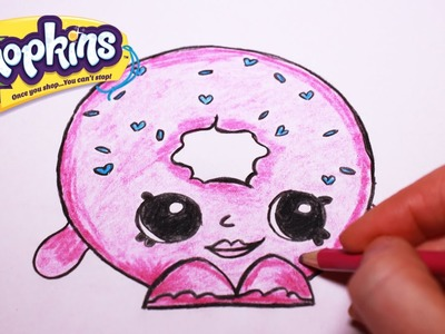 """How to Draw Shopkins Season 1 """"D'lish Donut"""" Ultra Rare 