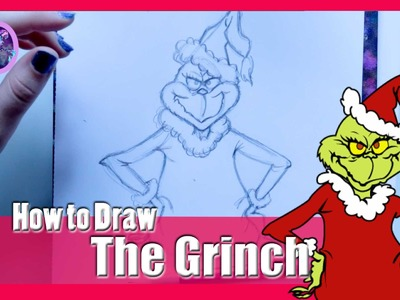 How to Draw THE GRINCH (from Dr. Suess' How the Grinch Stole Christmas) - @dramaticparrot