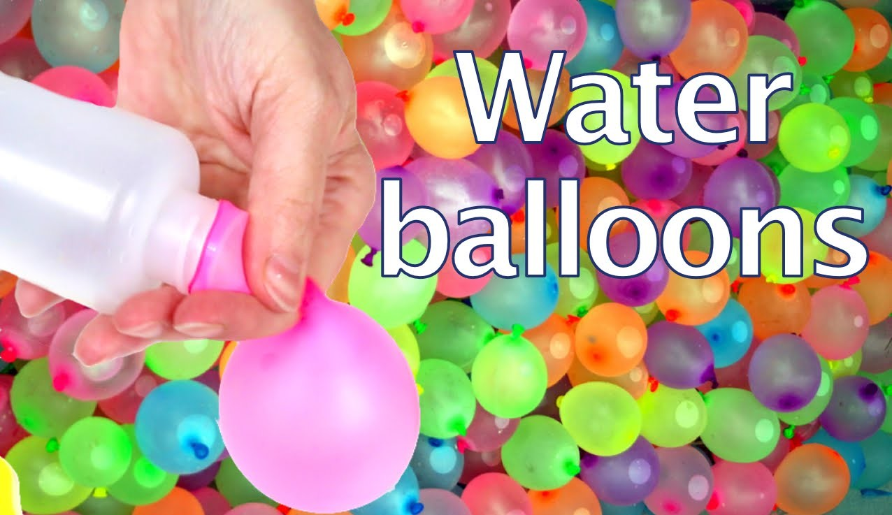 How to flow water balloons with a plastic bottle