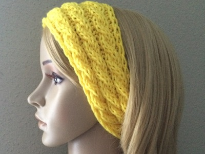 How To Knit A Cable Headband, Lilu's Knitting Corner Video # 41