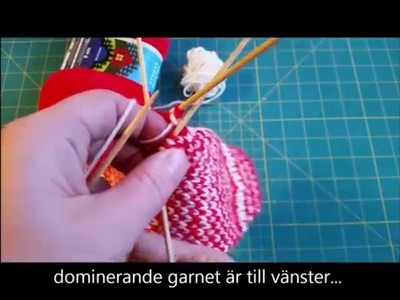 How to knit with 2 colors. Yarn dominance. lankadominanssi. garndominans