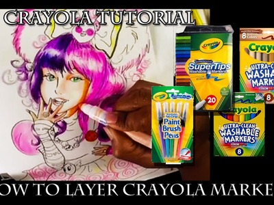 How to Layer Crayola Marker Tutorial