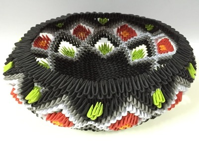 How to make 3d origami Basket 5