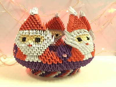 How to make 3D origami Bowl Santa Claus - part 1