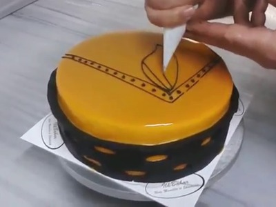 How to make a chocolate to decorate cake Nice