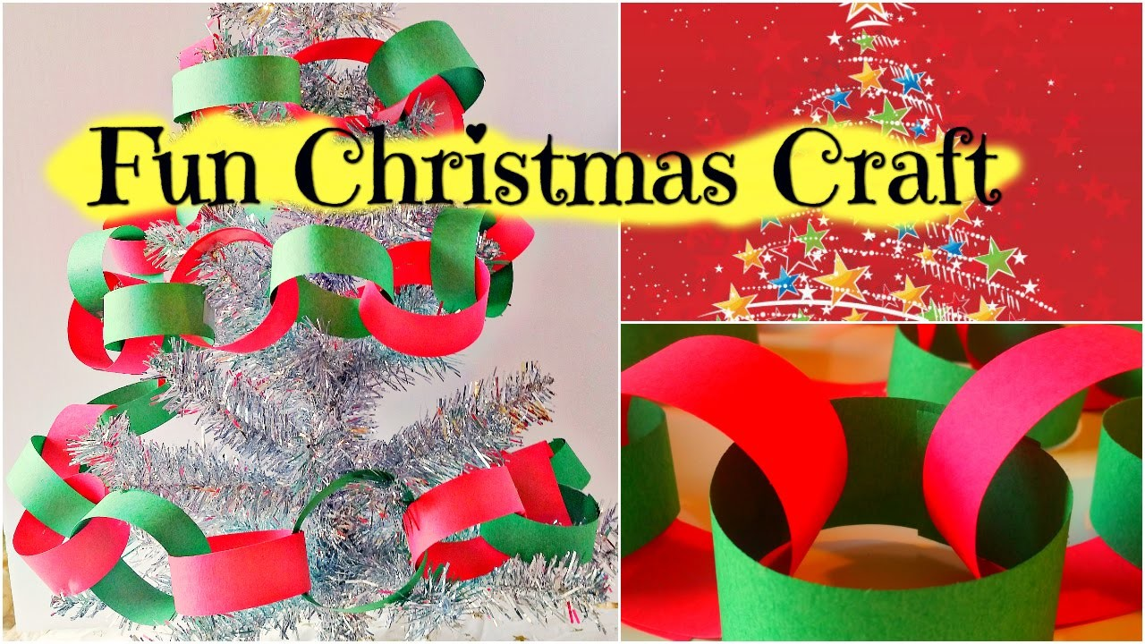 How to Make a Christmas Paper Chain - Easy Kid Christmas Craft by Duck Duck Goose Fun