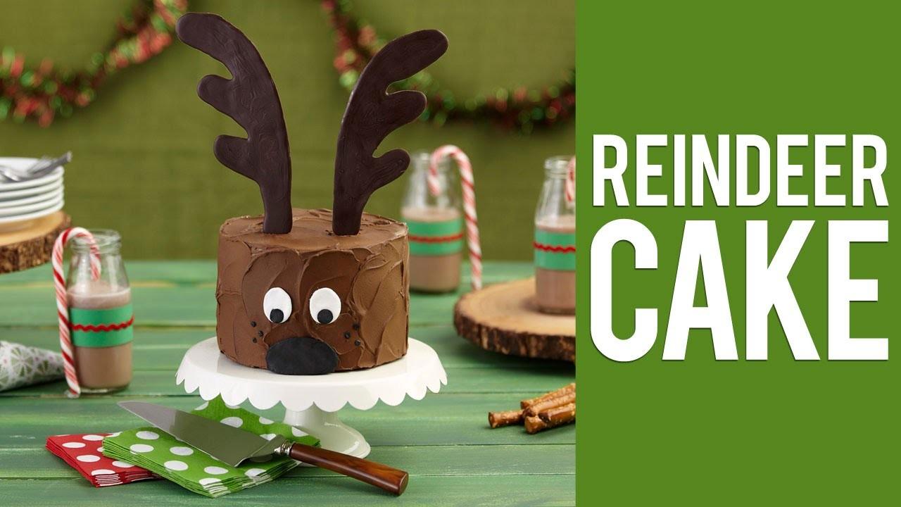 How to Make a Christmas Reindeer Cake