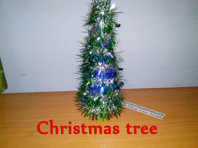 How To Make A Christmas Tree Lamp (simple)