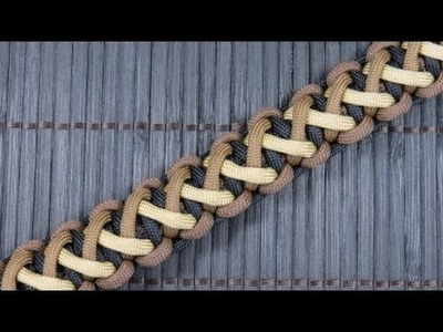 How to make a Divided Solomon Bar Paracord Bracelet