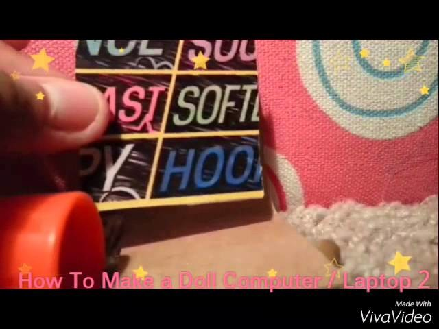 How To Make a Doll Computer.Laptop 2 - Doll Crafts