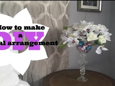 How to make a floral arrangement. DIY