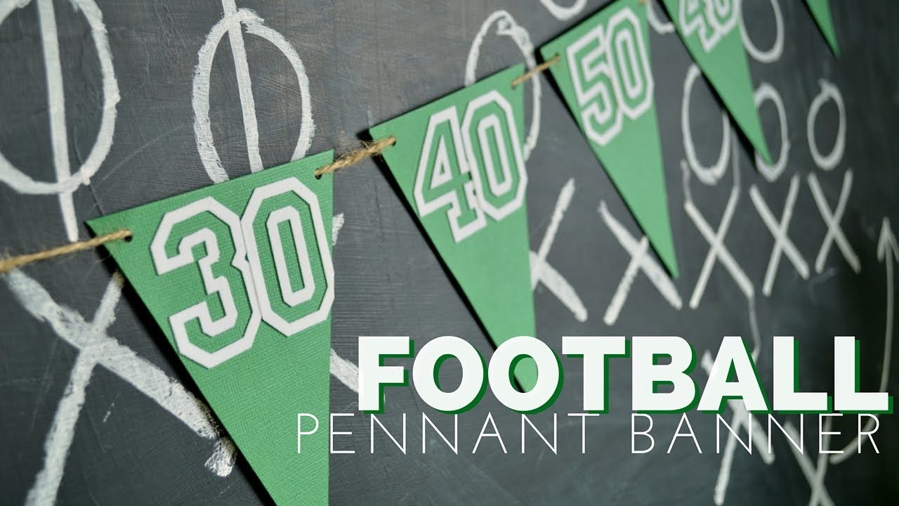 How to Make a Game Day Pennant Banner