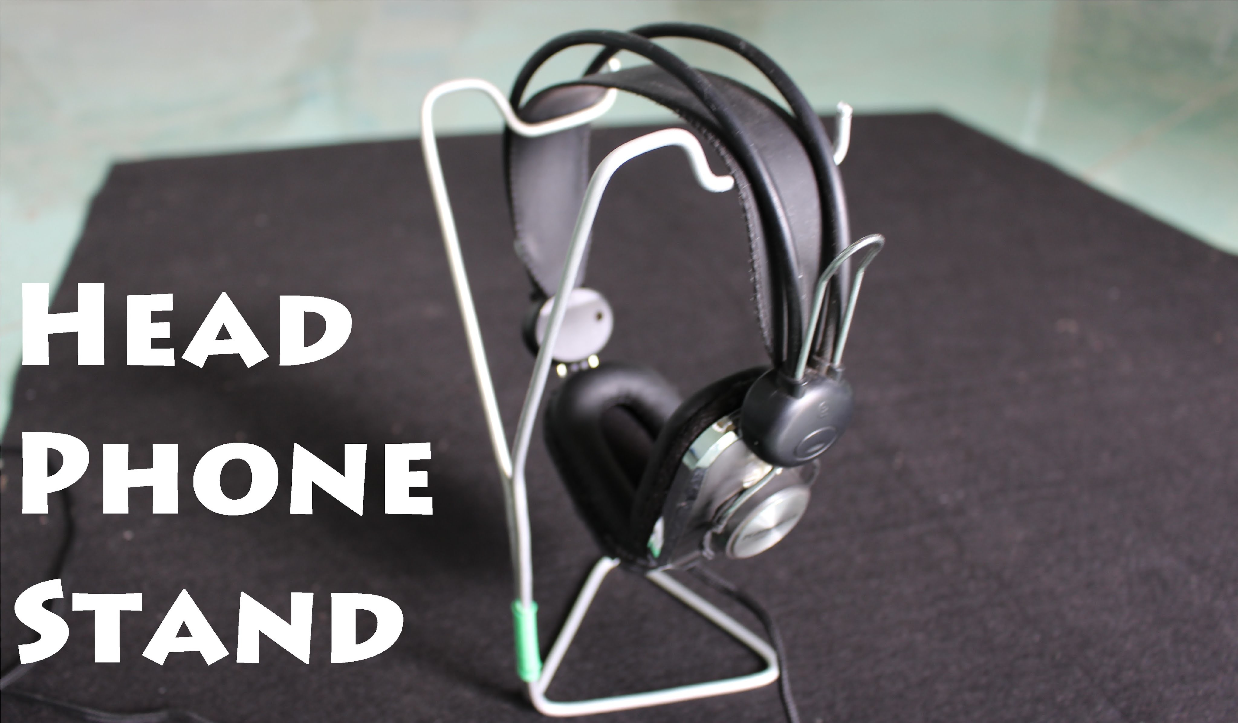 How to make a Headphone Stand using a Clothes Hanger