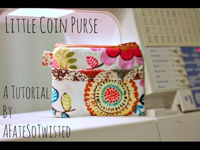 How To Make A Little Coin Purse (Sewing Project)