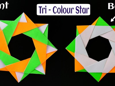"How to make a Modular Paper ""Tri-Colour Star"