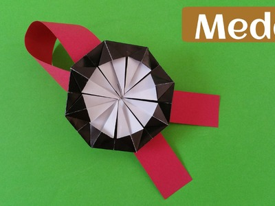 """How to make a Paper """"Award Medal"""" - Origami Tutorial"""