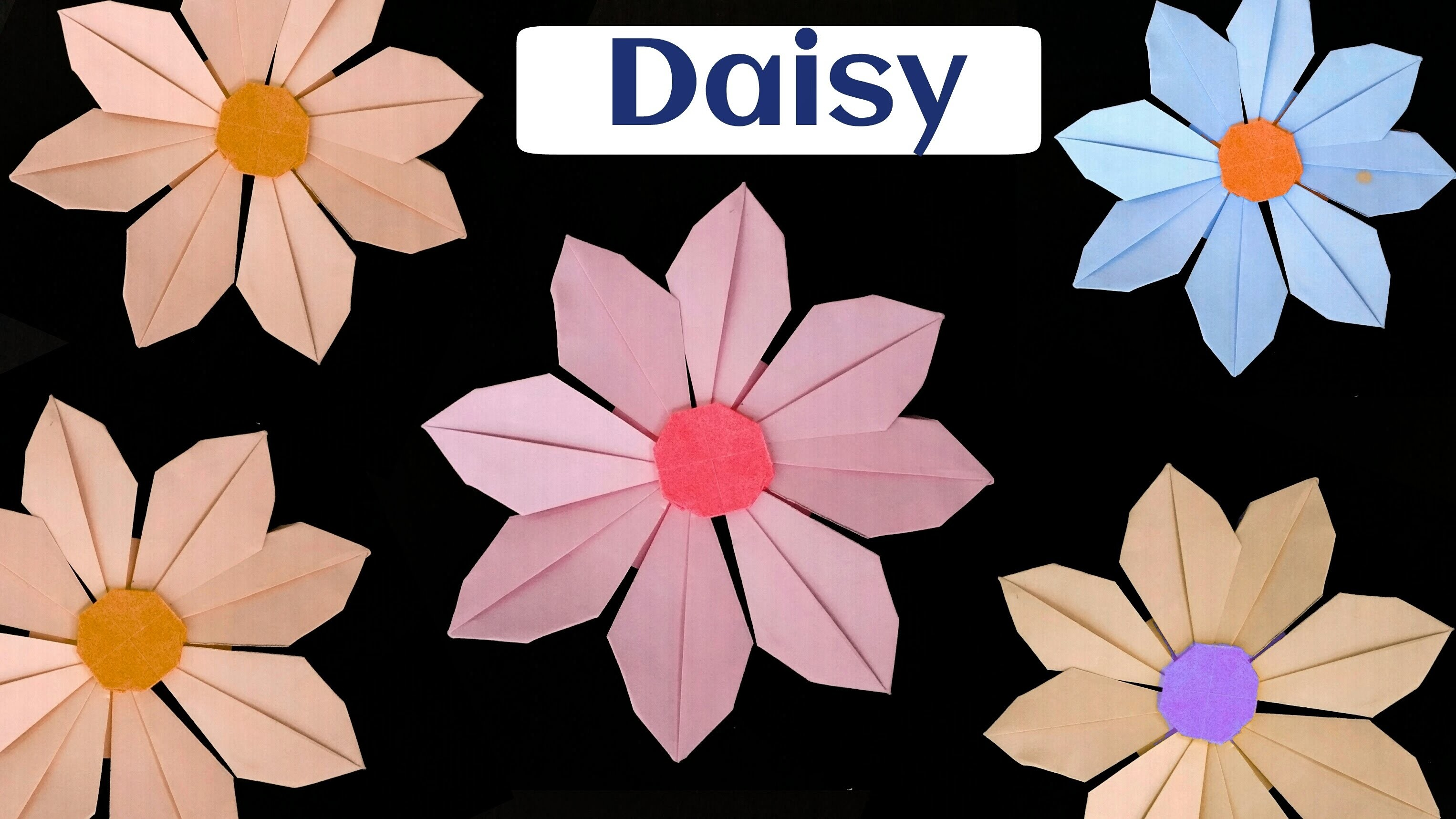 "How to make a Paper ""Daisy Flower"" - Modular Origami"