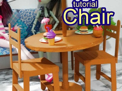 How to make a popsicle stick chair for doll Barbie, Monster High, Frozen, EAH, etc